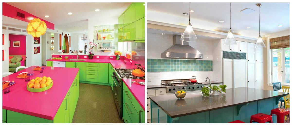 kitchen colors 2019, fashionable bright kitchen design 2019