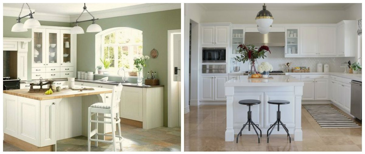 kitchen colors 2019, stylish white kitchen in kitchen colors 2019 trend