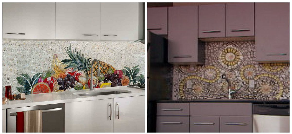 kitchen decor ideas 2019, mosaic apron in kitchen decor ideas 2019