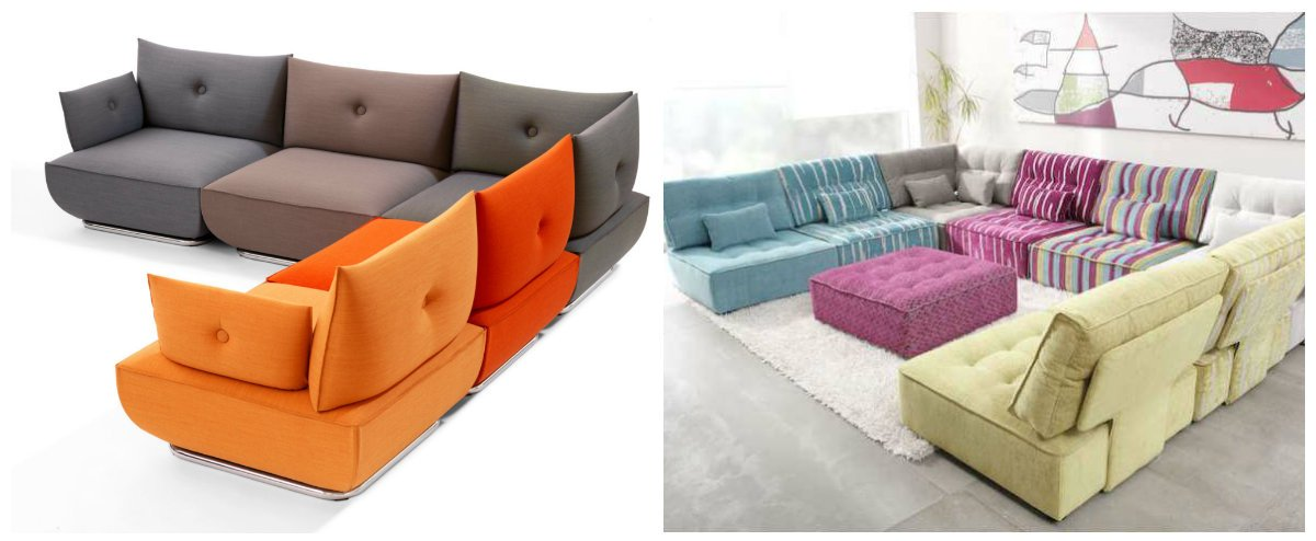 latest sofa designs 2019, trendy modular sofas 2019