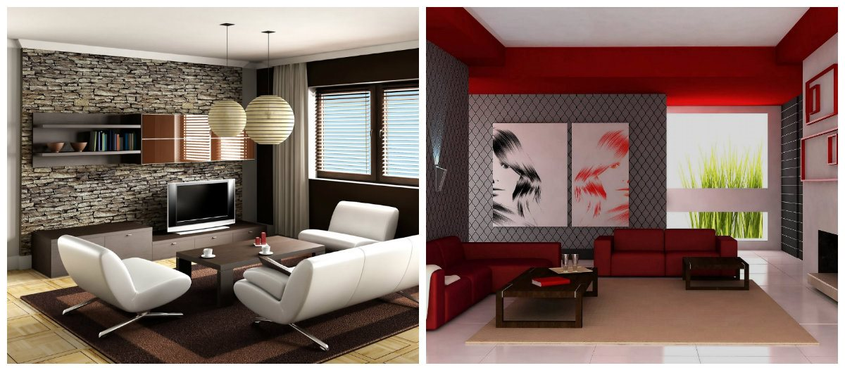 living room decor ideas 2019, wallpaper ideas in living room design 2019