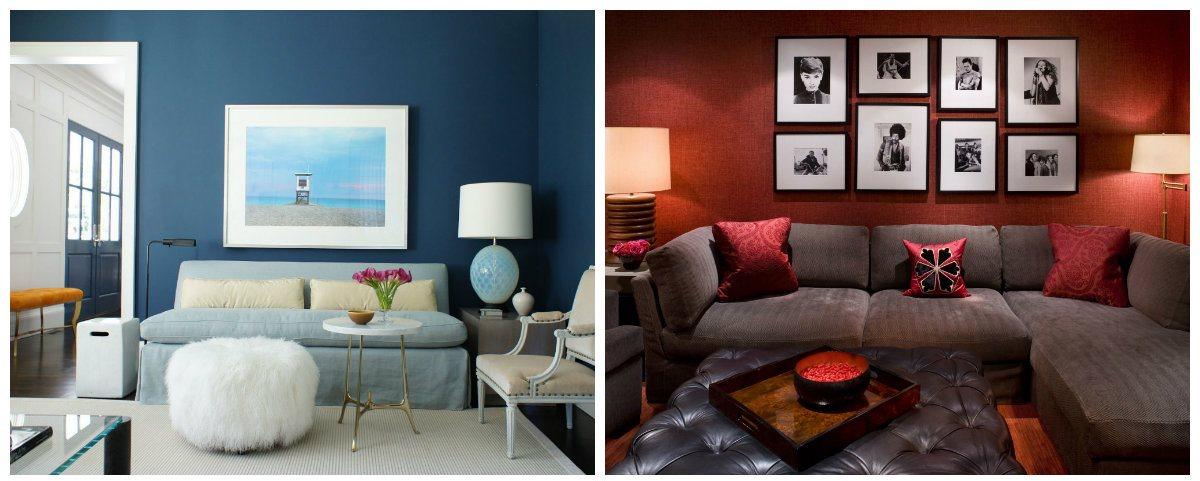 living room design 2019, blue living room, red living room