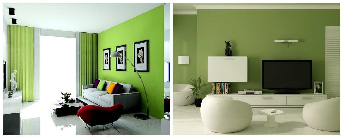 living room design 2019, green living room design 2019