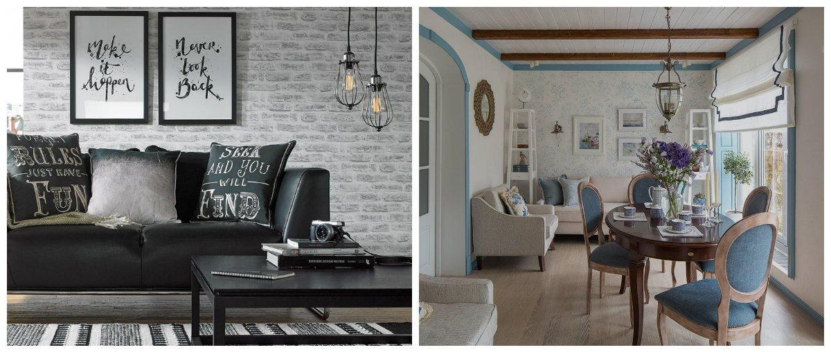 living room design 2019, loft living room, Mediteranean living room