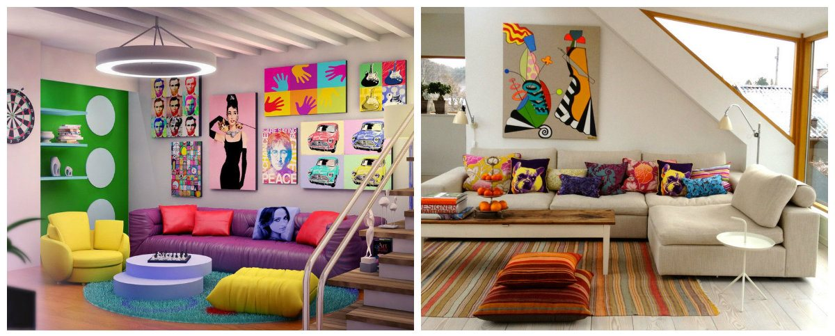 living room design 2019, pop art living room, ethnic style living room