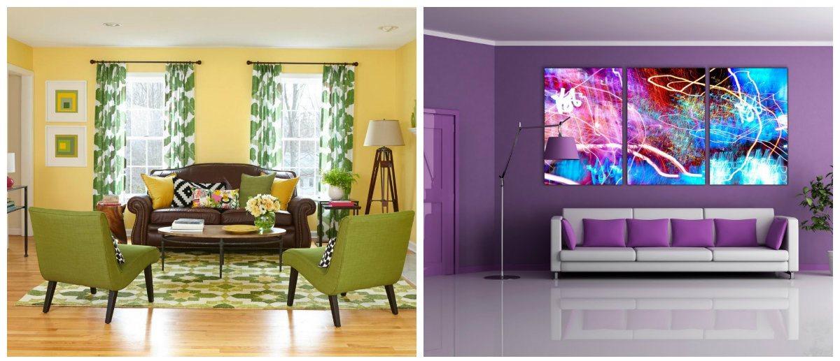 living room design 2019, violet living room, mustard living room
