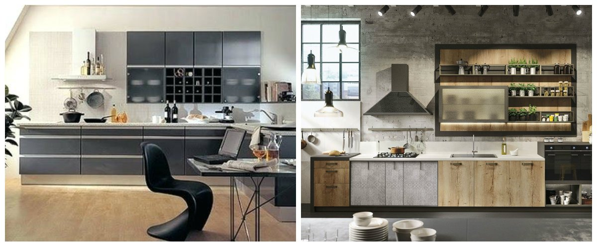 modern kitchen 2019, loft style kitchen, high tech kitchen design