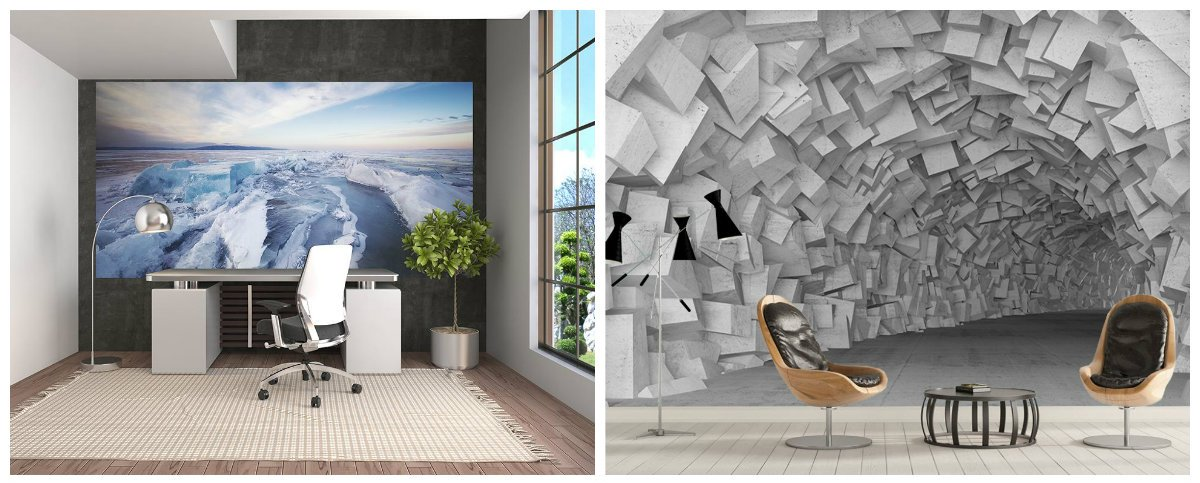 modern office decor, 3D wallpaper in modern office wall design