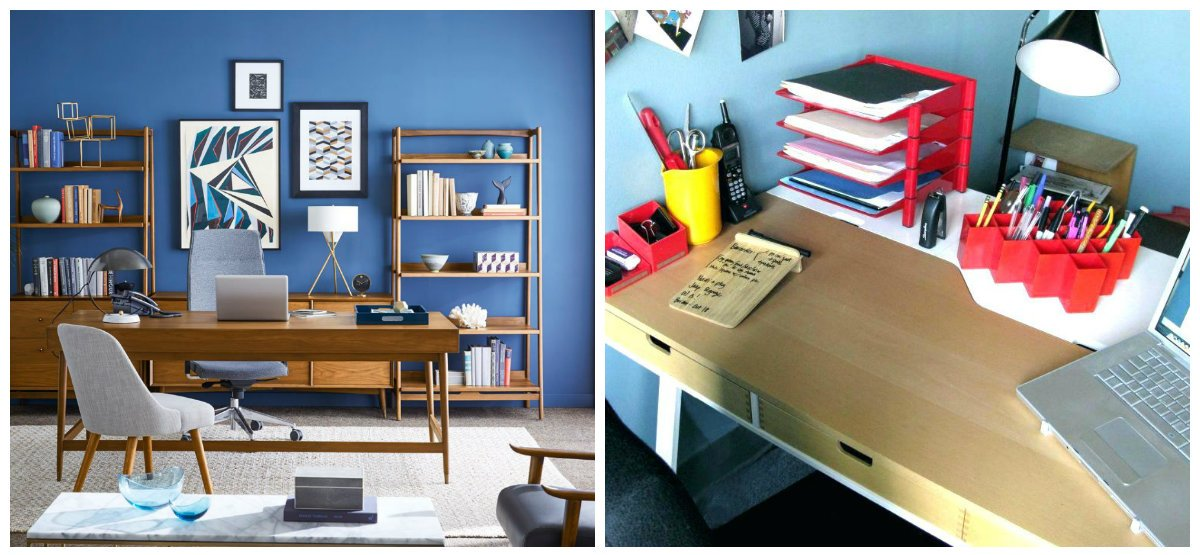 modern office decor, accessories in modern office decor