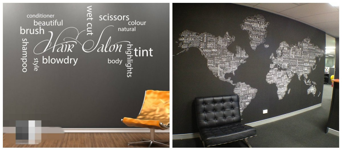 modern office decor, use of collages in modern office decor