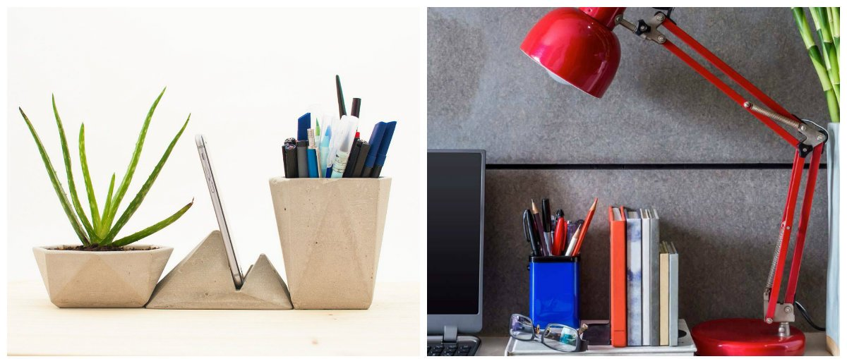 modern office decor, modern desk accessories for office design