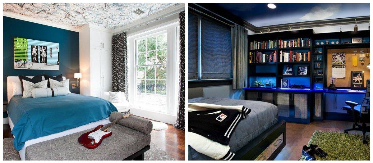 teen boy bedroom ideas, curtains in teen boy bedroom ideas