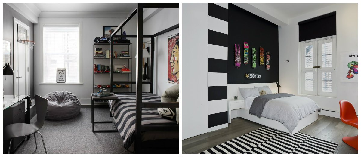 teen boy bedroom ideas, wallpaper design in teen boy bedroom ideas