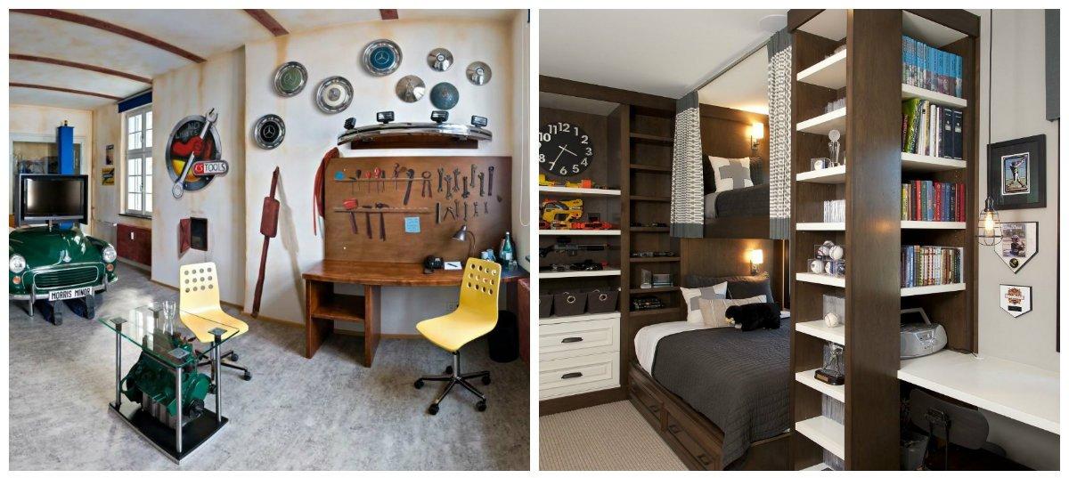 teen boy bedroom ideas, zoning in teen boy bedroom interior design