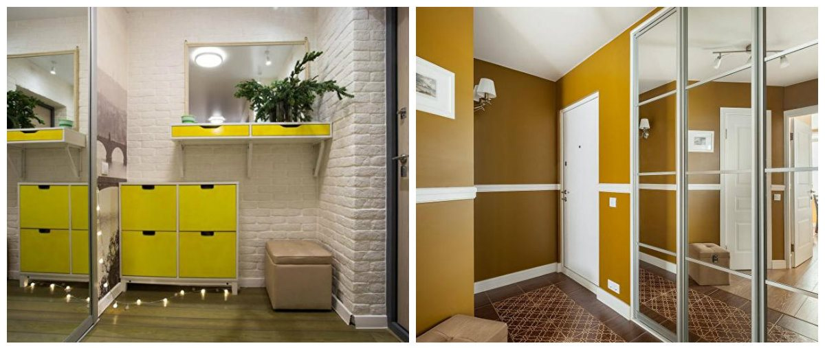 hallway ideas 2019, stylish yellow hallway design ideas 2019