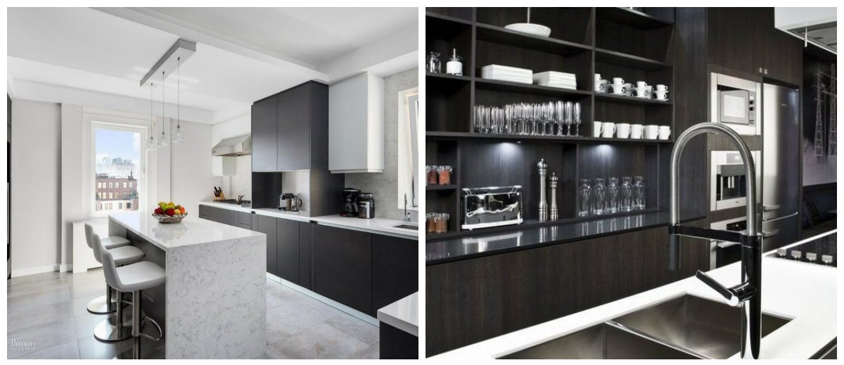 new kitchen designs 2018, black and white kitchen design 2018
