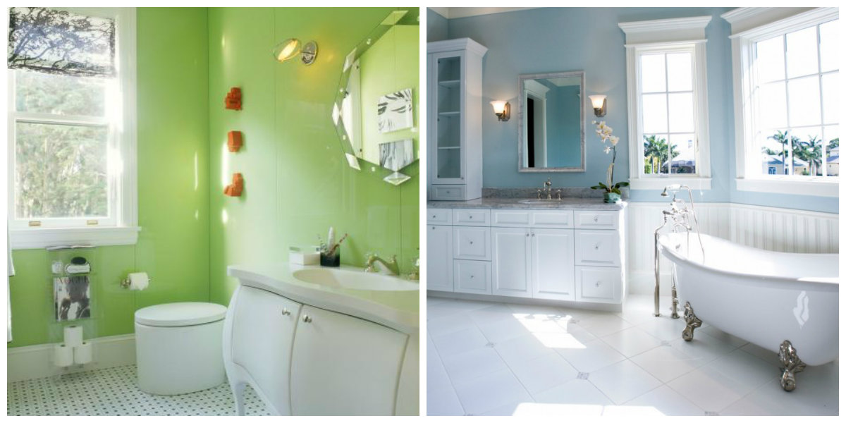 Bathroom Paint Colors 2019, Blue Bathroom, Green Bathroom