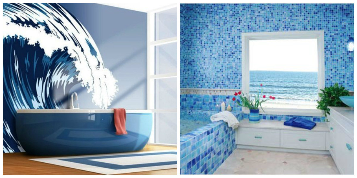 beach bathroom ideas, find out fashionable design ideas in marine style