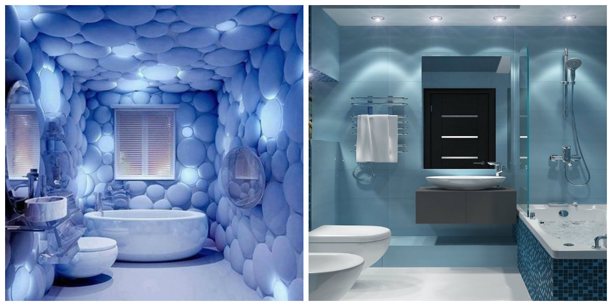 beach bathroom ideas, blue bathroom, pale blue bathroom