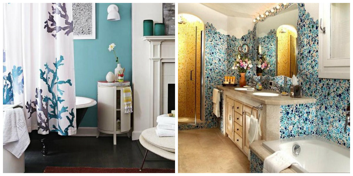 beach themed bathroom, accessories in beach themed bathroom