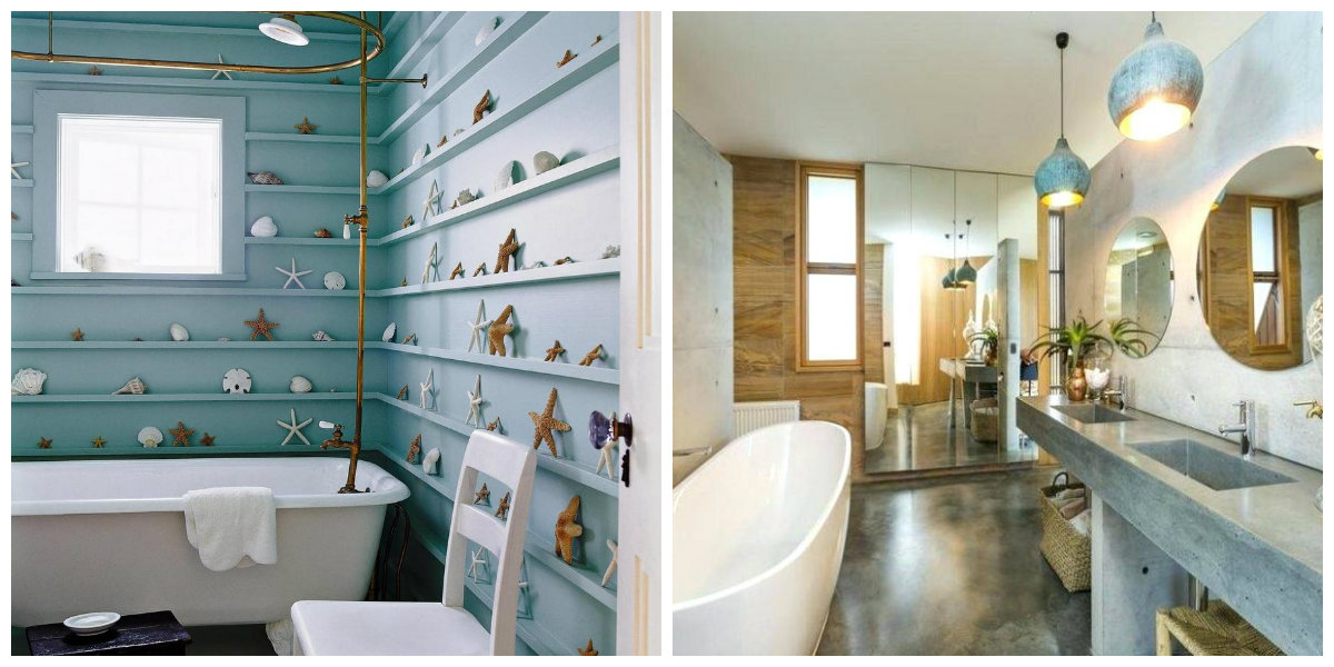 beach themed bathroom, lighting ideas in beach themed bathroom
