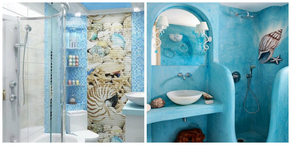 beach themed bathroom, wall decor in beach themed bathroom