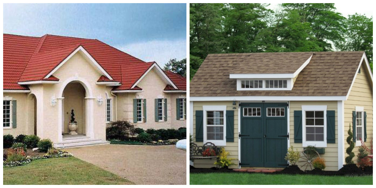 exterior paint colors 2019, red roof, brown roof in exterior paint colors 2019
