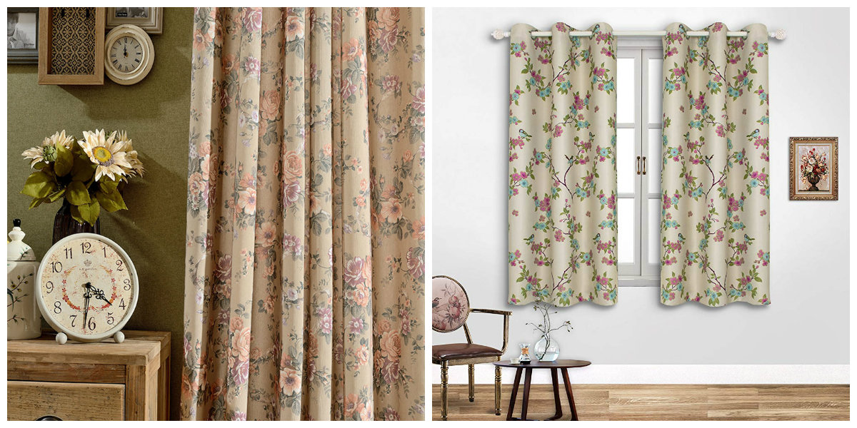 farmhouse curtains, floral farmhouse curtains