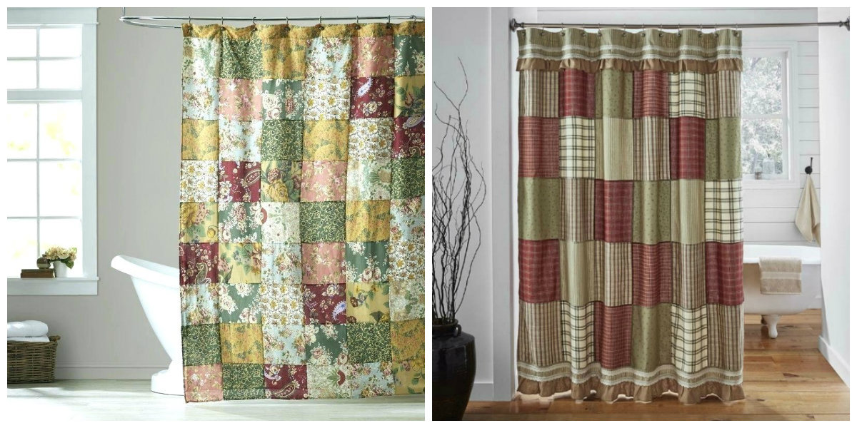 farmhouse curtains, patchwork farmhouse curtains