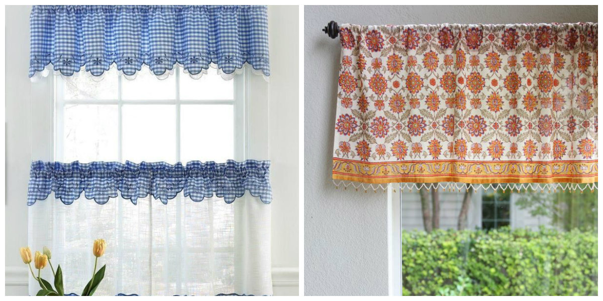 farmhouse curtains, Provence farmhouse curtains