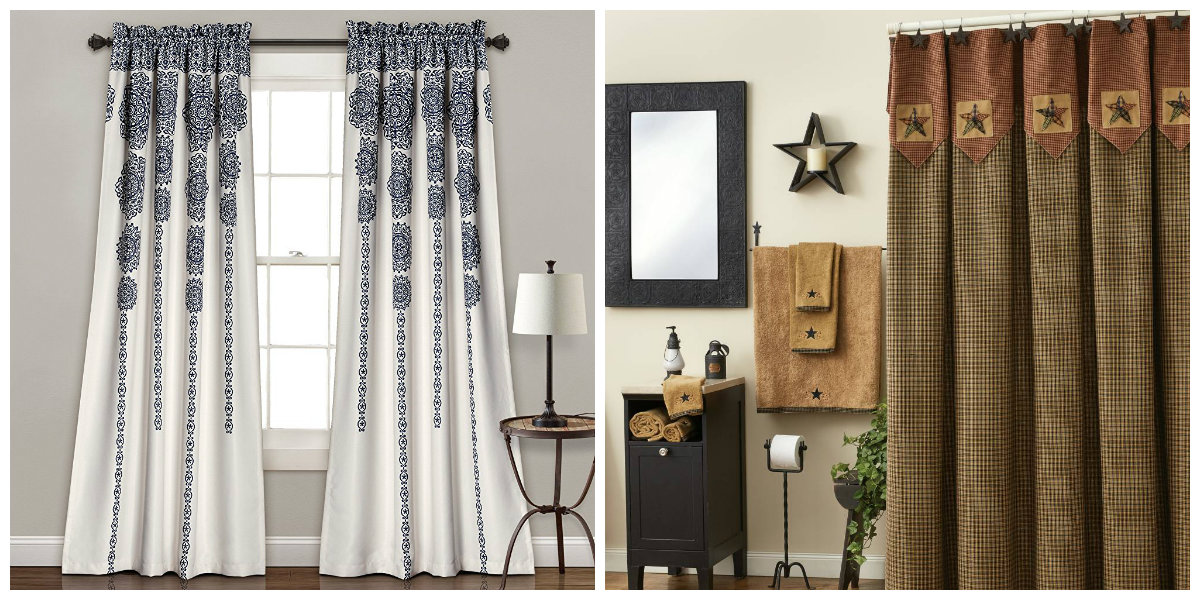 farmhouse curtains, stylish farmhouse curtains ideas