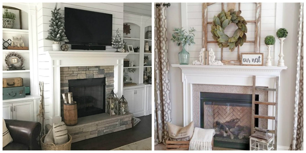 farmhouse decor 2019, trendy fireplace ideas for farmhouse