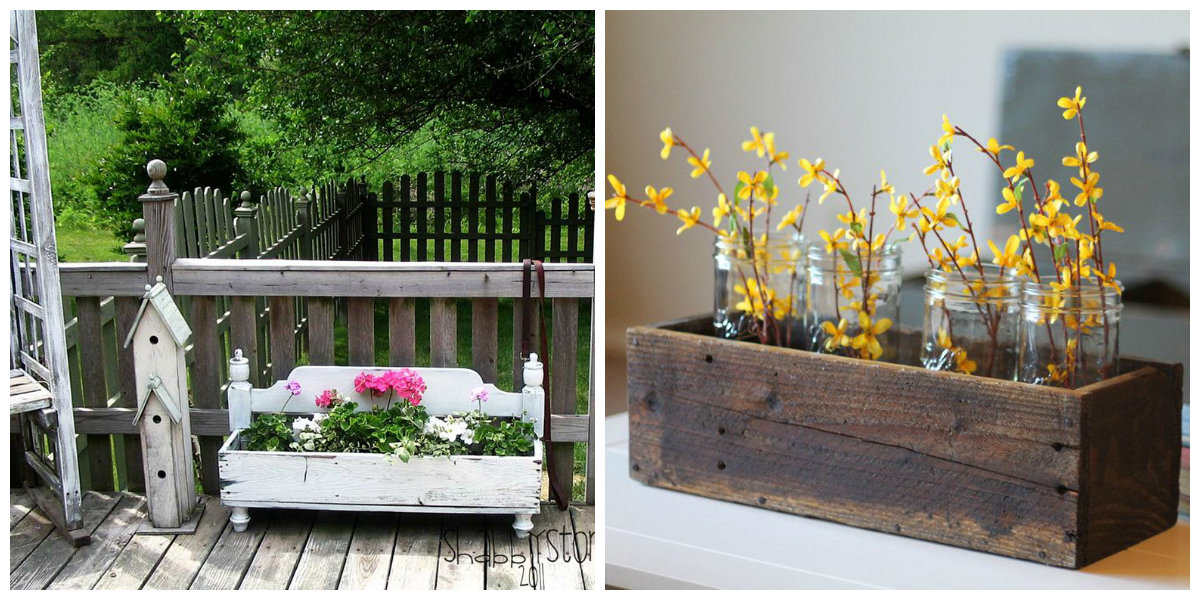 farmhouse decor 2019, furniture as flower bed for farmhouse design ideas