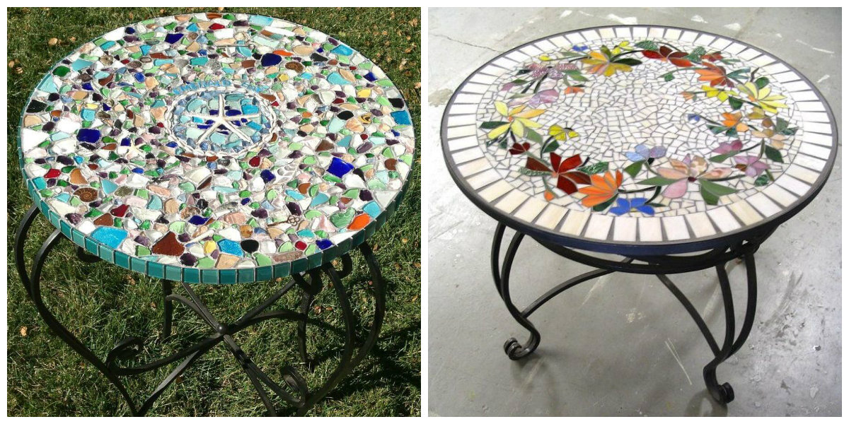 farmhouse decor 2019, trendy mosaic table