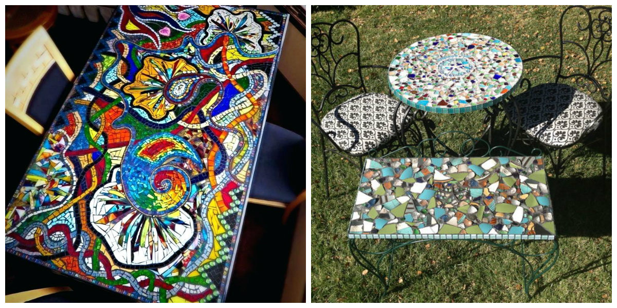 farmhouse decor 2019, mosaic table ideas