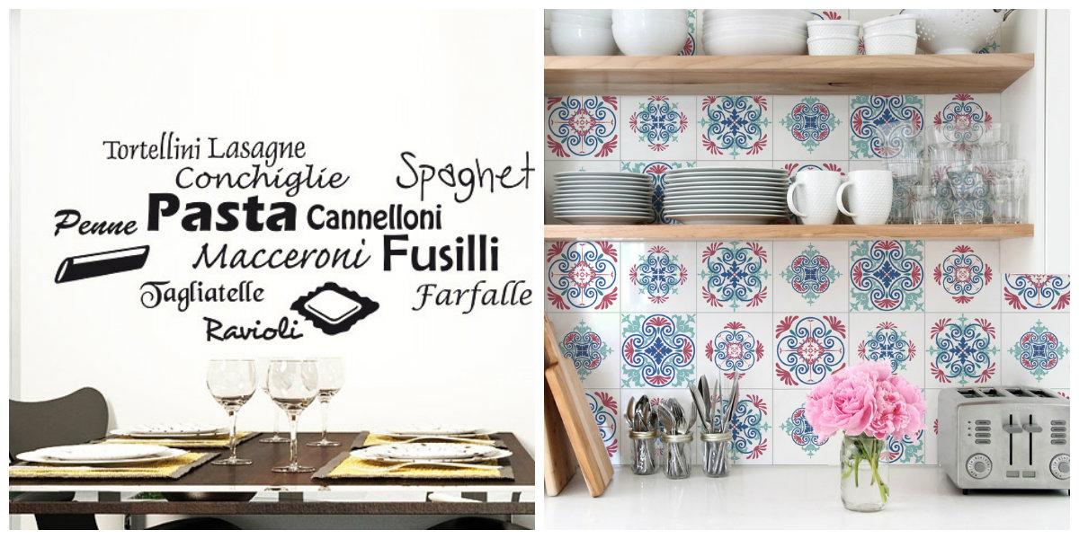 farmhouse kitchen decor, vynil kitchen stickers
