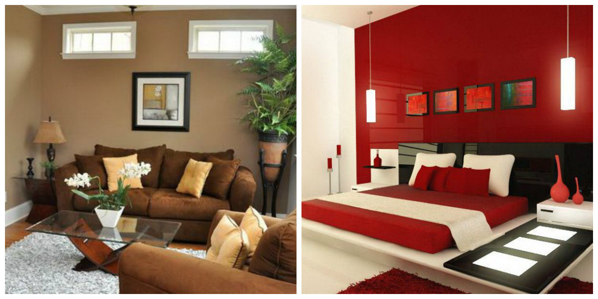 Interior Paint Colors 2019, Red In Interior Paint Colors 2019, Brown In Interior  Paint