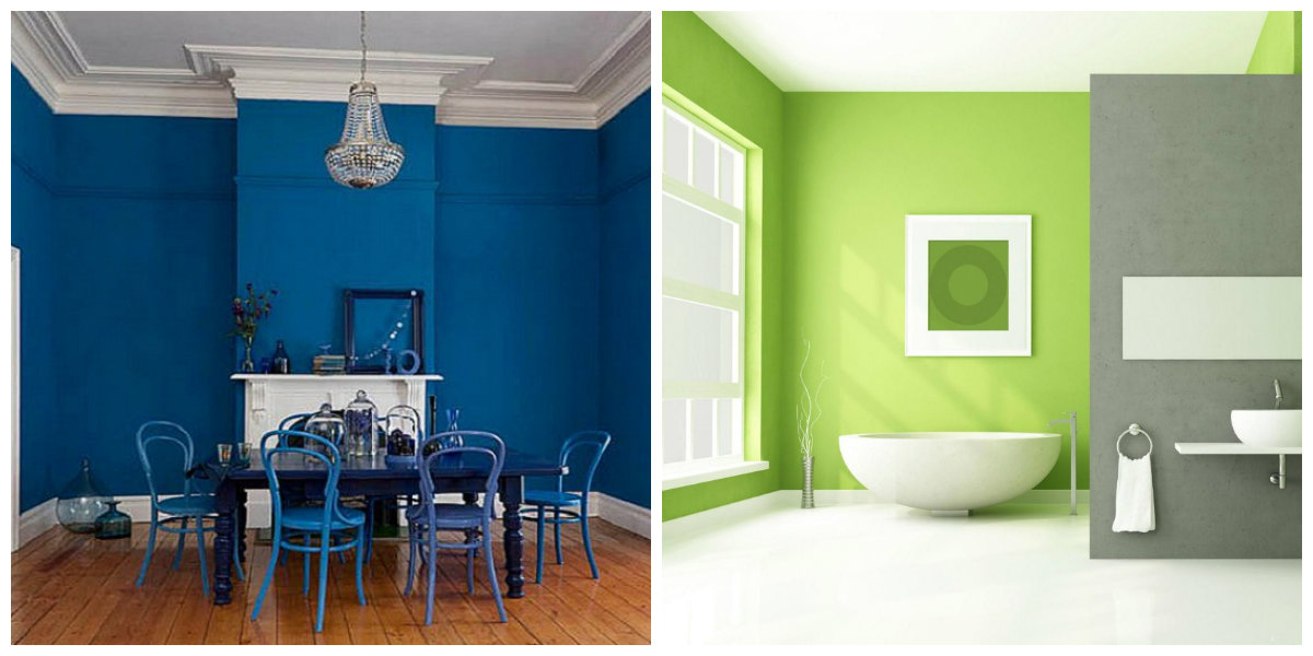 interior paint ideas 2019, blue color, green in interior paint ideas 2019