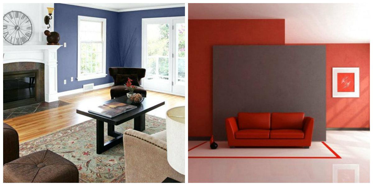 interior paint ideas 2019, crimson color, blueberry color in interior paint ideas 2019
