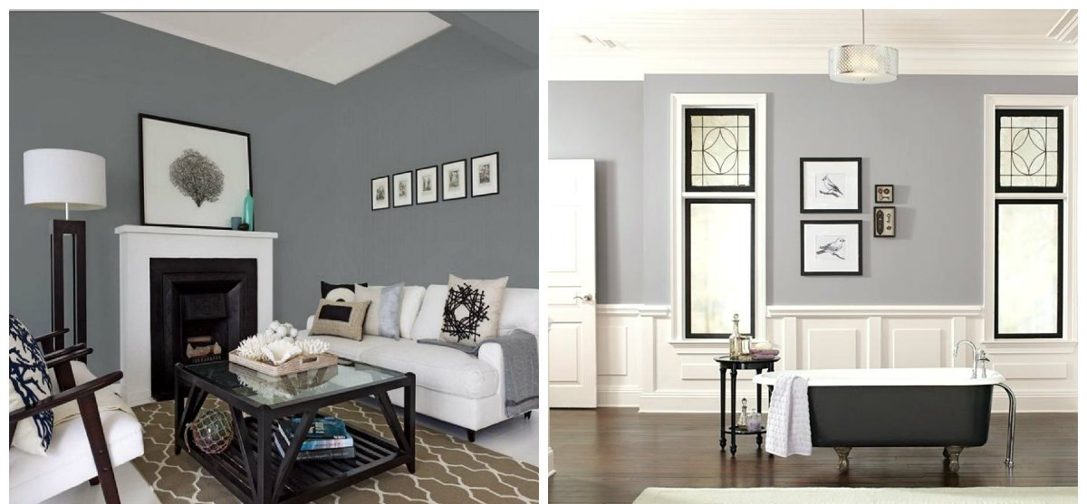 interior paint ideas 2019, gray color in interior paint ideas 2019
