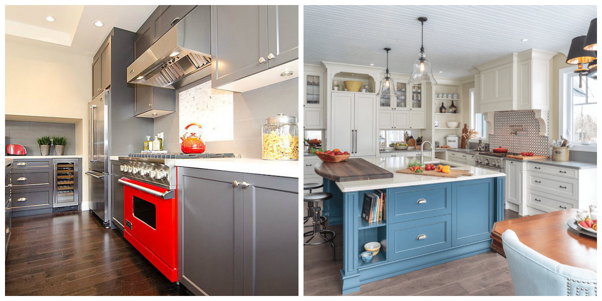 marvelous kitchen color scheme | Kitchen cabinet paint colors 2019: top trendy colors for ...