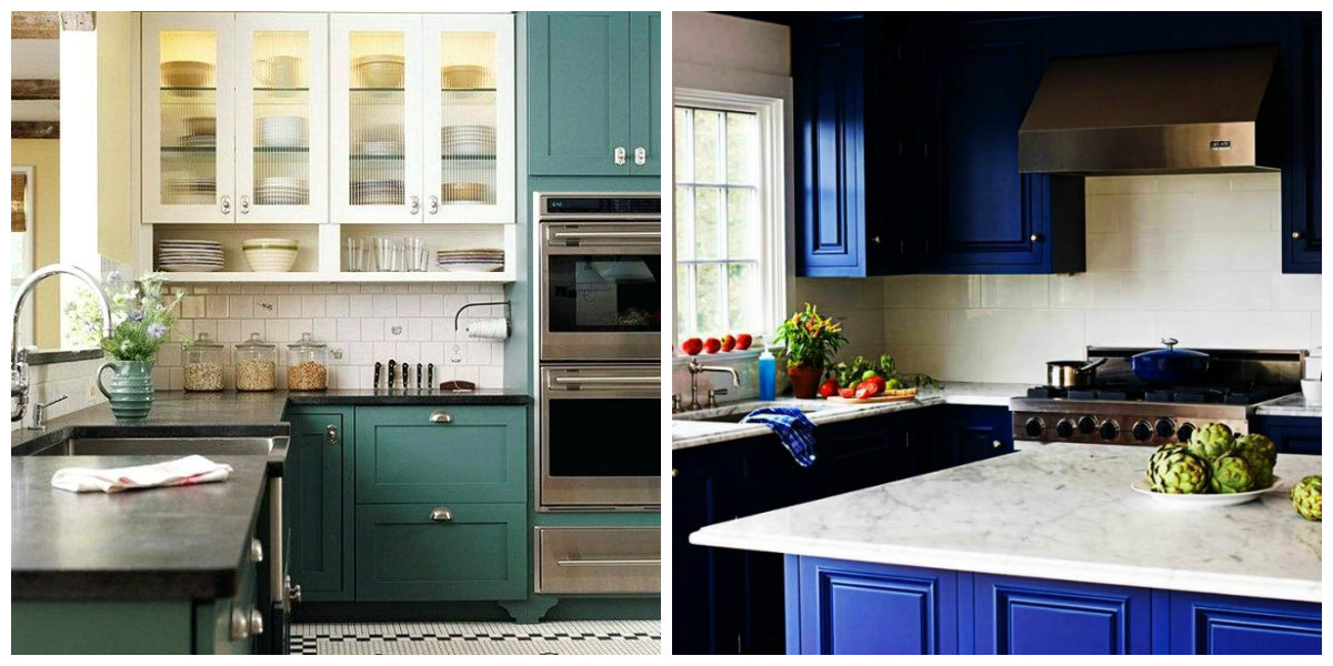 Kitchen Cabinet Paint Colors 2019, Two Color Use In Kitchen Cabinet Paint  Colors 2019