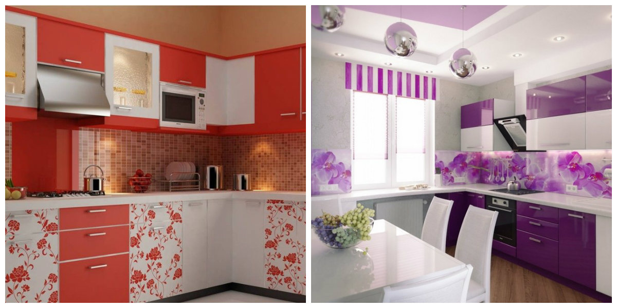 kitchen color schemes 2019, kitchen in flower style