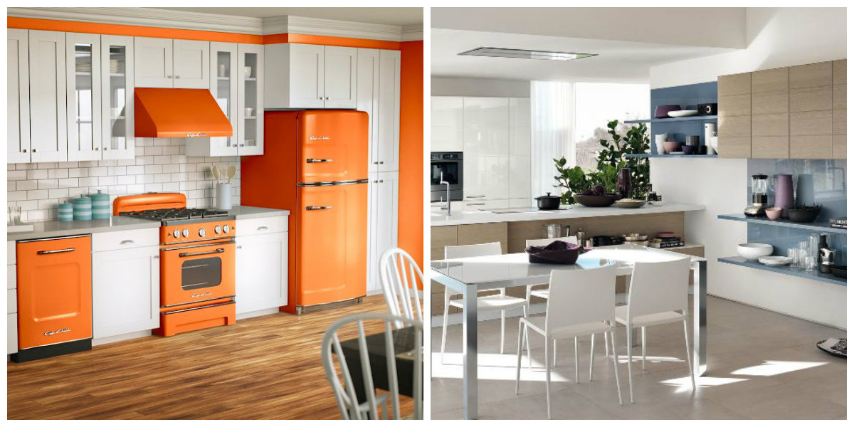 kitchen color schemes 2019, three color kitchen design 2019
