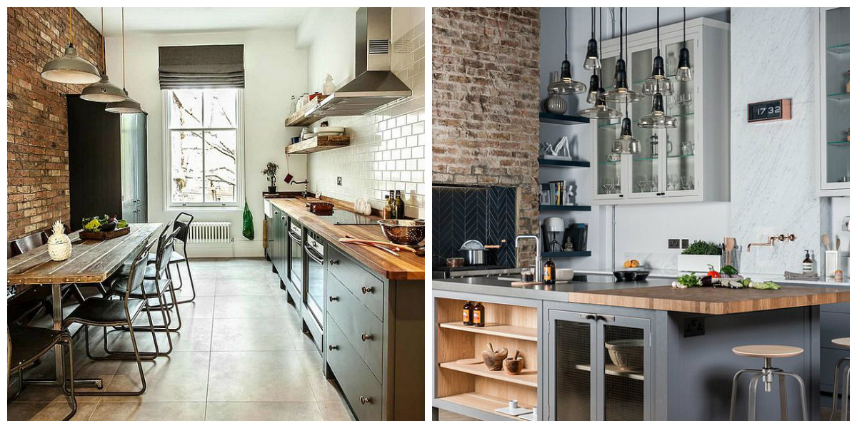 kitchen design ideas 2019, industrial style kitchen 2019