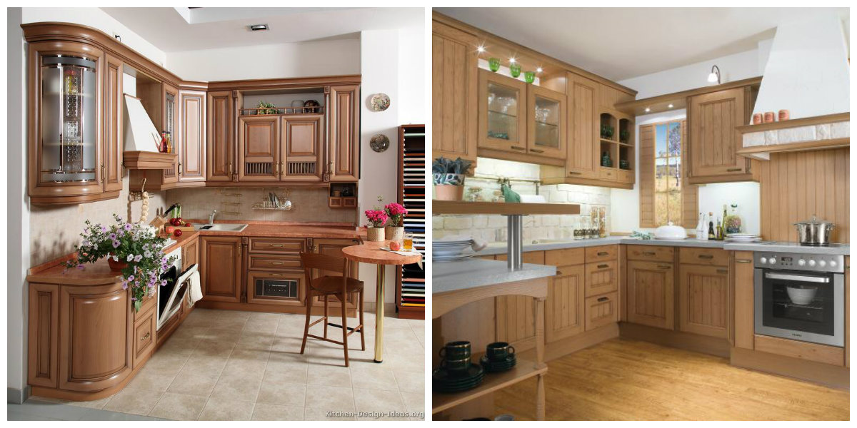 kitchen design ideas 2019, use of wood in kitchen design 2019