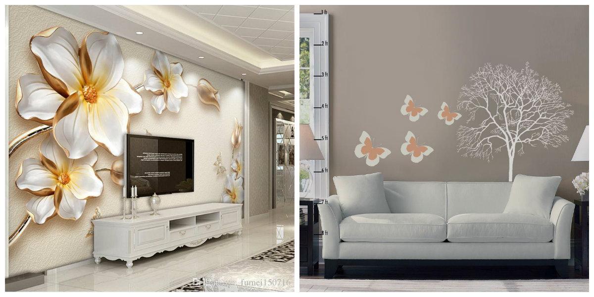 living room decor ideas 2019, wallpaper ideas in living room decor ideas 2019