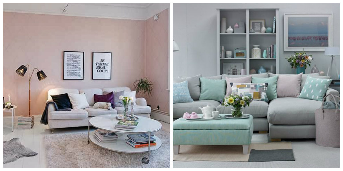 living room paint colors 2019, living room in pastel colors