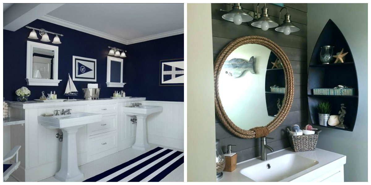 nautical bathroom decor, give uniqueness to bathroom with nautical theme