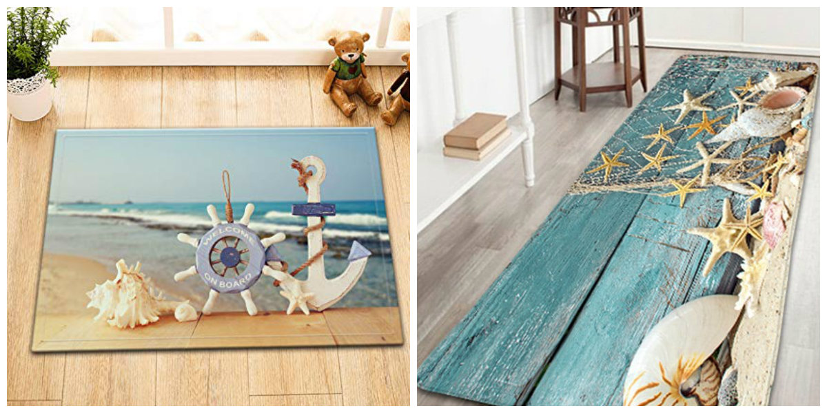 nautical bathroom decor, stylish nautical bathroom rugs